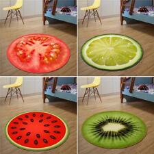 Round Carpet Fruit Pattern Floor Carpet Non Slip Comfy Rug Mat Home Decorat BIN