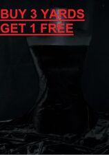 Black Velvet Velour Lycra Spandex 4 Way Stretch dress crafts fabric material