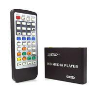 New JUSTOP HD Multi Media Player RM MKV HD 1080P HDMI USB TV Box For SD Card HDD