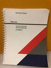 Tektronix Tas 475 Amp Tas 485 Analog Oscilloscopes Instruction Manual