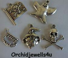 Lot de 5 différents Argent Tonique Gothique Pendentif Charm Perles-Idéal pour Halloween