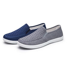 Mens Comfy Denim Flat Non-slip Casual Canvas Shoes Size 39-44 Loafers Shoes Size