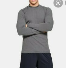 Under Armour Men's Xl Heather Gray Regular Fit Long Sleeve Mock Turtleneck Shirt