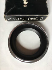 Mint Minolta Reverse ring II 55mm diameter lens in box, macro, Close-up
