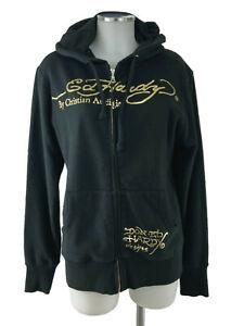 Ed Hardy by Christian Audigier Sweater Jacke in S Herren schwarz 100% Baumwolle