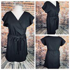 REAL FORM LONDON Ladies Black Dress Size 24/26 Plus Belt Smart Holiday NEW NWOT