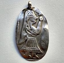 Antique Ancien Petit Talisman de protection en argent Rajasthan Inde 19e
