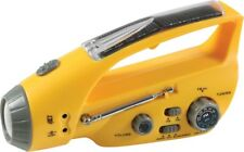 Solar Wind Up Hand Crank LED Flashlight with Radio Emergency Survival AM FM