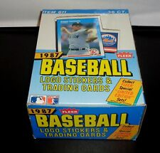 1987 Fleer Baseball Wax Box 36 Unopened Packs