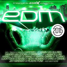 CD Edm 2015 von Various Artists 2CDs   Tmit Hardweel und Armin van Buuren