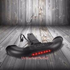 "1.25""/2"" Black Rear Hitch Step Bar+Brake Trailer Tow Tailgate Light Receiver"