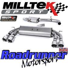 "Milltek Audi S3 8v 3-Door RACE Exhaust 3"" NON VALVE Resonated Polish GT SSXAU528"