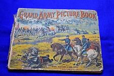 Antique Grand Army Picture Book Circa 1890's-Broken Binding-Loose Pages-L@@K