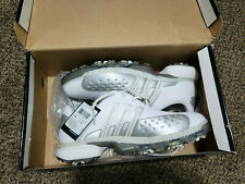 New listing Adidas Traxion Powerband Chassis Golf Shoes White Silver Men's 737431 Size 10