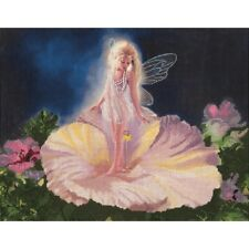 La Fleur Embellished Cross Stitch Kit Candamar NEW fairy girl flower fantasy art