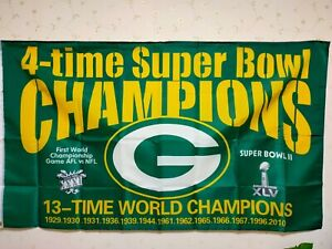 Green Bay Packers Super Bowl Flag 3X5 FT NFL Banner Polyester