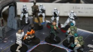 Single Star Wars Imperial Assault Miniatures Game Components Unpainted Figures