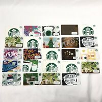 24 STARBUCKS Random Collectible Blank Empty Gift Cards Reload Rare Las Vegas Mom