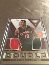 DeMar DeRozan Double Game Used Materials Card