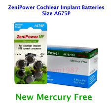 ZeniPower A675P Cochlear Batteries Pack of 60 Super Fresh Expires 2020