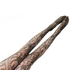 MERAVIGLIOSAMENTE elegante floreale pizzo uncinetto fantasia moda COLLANT CALZE