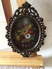 Miniature Oil Painting on Tin Signed Bary in Rococo / Baroque Style Frame