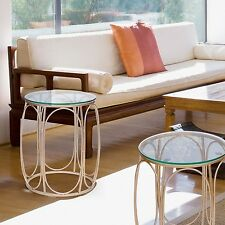 Adeco Classic Nesting Side Table Set (2 Pcs), Gold