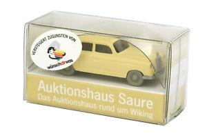 Mercedes 220 (1954), hellbeige (Auktionshaus Saure-Werbemodell 88.Auktion)
