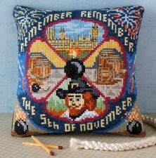 Guy Fawkes Mini Cushion Cross Stitch Kit, Sheena Rogers Designs