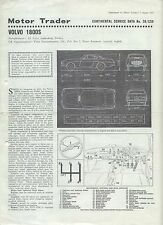 Volvo 1800S Motor Trader Service Data No. 28/CSD 1967
