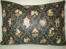"Oriental Toile Lumbar Decorative Accent Throw Cushion Pillow Cover 12"" x 16"""