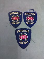 "Lot of 3 Statesville Fire Dept Patch - North Carolina - vintage - 3"" x 4"""