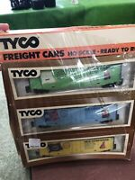 Lot Of 3 Tyco HO Scale Freight Cars Rhode Island Georgia New Hampshire New