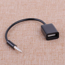 New Car SUV MP3 3.5mm Male AUX Audio Plug Jack To USB 2.0 Female Converter Cable
