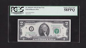 1976 $2 FRN, MINNEAPOLIS STAR NOTE, FR#1935-I*, PCGS CHOICE ABOUT NEW 58 PPQ