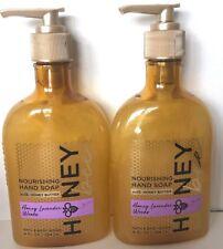 2 Bath & Body Works Nourishing Hand Soap Honey Lavender Woods Honey Butter 8 oz
