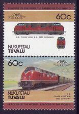 TUVALU NUKUFETAU LOCO 100 DB CLASS V 200 LOCOMOTIVE GERMANY STAMPS MNH
