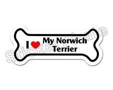 *Dog Bone Magnet* I Love My Norwich Terrier Car Truck Locker