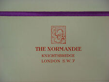 Mailing ENVELOPE ~ 1960s THE NORMANDIE Hotel ~ Knightsbridge, London, ENGLAND