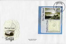 Tonga 2013 FDC Tin Can Island 1 V M/S COPERCHIO mail fonuafo'ou FALCON FRANCOBOLLI Isola