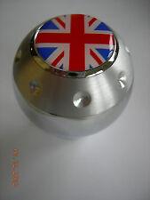 ALUMINUM GEAR SHIFT KNOB BRITISH FLAG UNITED KINGDOM UNION JACK RED & BLUE LOGO
