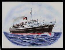 Original Art Work ..tn ANDREA DORIA ..ocean liner...Italia... Starboard