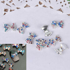10X 3D Alloy Nail Art Decoration Bow Knot Glitter Rhinestones Manicure Jewelry^^
