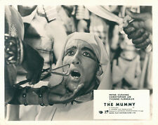 THE MUMMY ORIGINAL BRITISH HAMMER HORROR LOBBY CARD CHRISTOPHER LEE B/W RELEASE