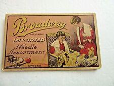 "Vintage Sewing Needle Card Folder Case ""Broadway"""