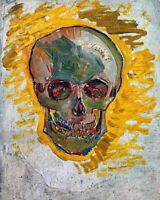 1887 Vincent van Gogh 'Skull' Oil Painting - 8x10 Fine Art Print - Paris, France