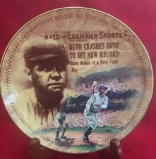 Ruth Crashes The 60 Homer Souvenir Plate Numbered