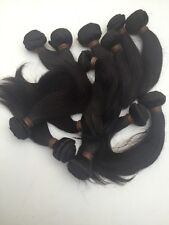 Brazilian Human Hair Extensions Track/Weft # Natural Black 8""