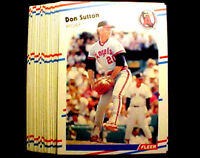 1988 Fleer DON SUTTON ~ 50 CARDS LOT ~ HOF HALL OF FAME INDUCTEE