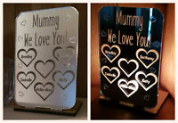 Personalised Tea Light Candle Holder Gifts for Her Mummy Nan Mother's Day Gift